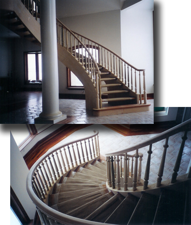 Custom Hardwood Stair Cases